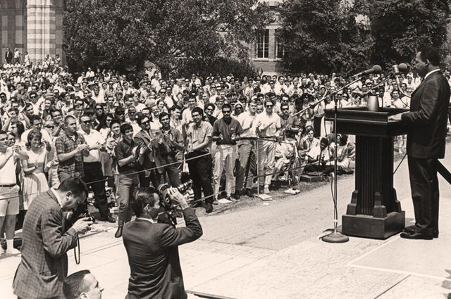 Rev. Dr. Martin Luther King Jr. Speaks at UCLA, April 27, 1965. Credit: University Archives