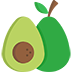 avocado fruit cut in half