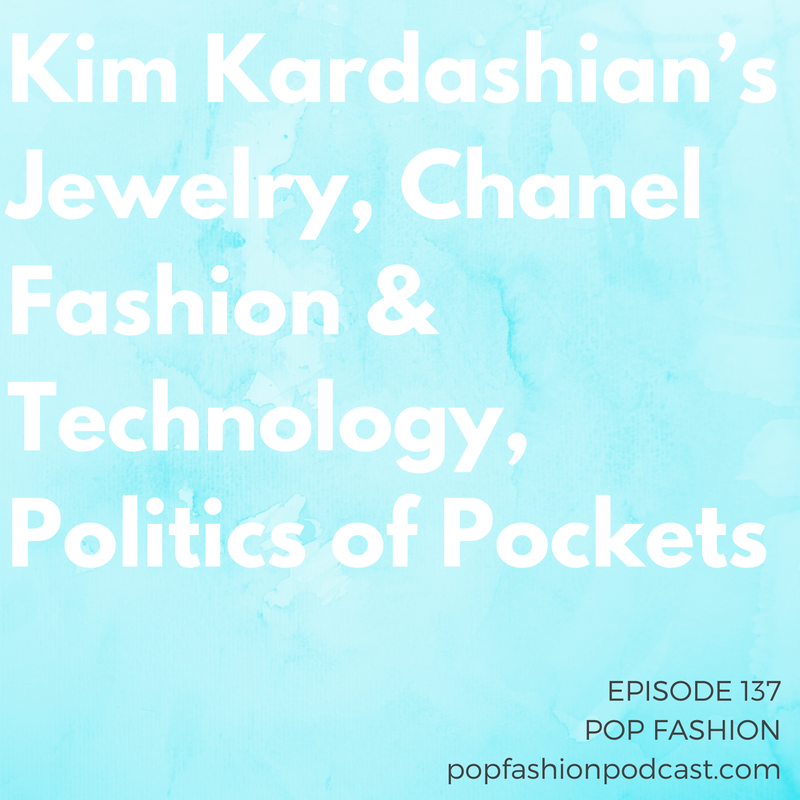 Episode 137: Kim Kardashian's Jewelry, Chanel Fashion & Technology, Politics of Pockets   Welcome to another edition of Pop Fashion podcast! Lisa is out this week, so Navin steps up to the mic to talk all about fashion news. We start by discussing the robbery of  Kim Kardashian's jewelry . How will the crime impact tourism in  Paris ? Will it influence high-end jewelry purchases?  Moschino  is under fire for a pill-themed capsule collection. Are these clothes glorifying drug culture or putting a mirror up to society?  Oakley  came out with high-tech sunglasses that have a  ton of features , while  Chanel's  show for Spring 2017 was all about merging fashion with technology. In other news,  Cambodia's  imports of apparel to the United States are declining while production is up in Vietnam. Also, what's the history of  pockets  in women's clothing? You might be surprised! Come hang out!
