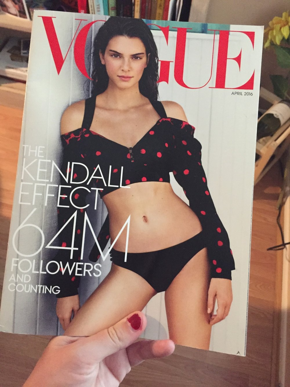 Listener Heather found this Kendall-cover Vogue in the pile of magazines her volunteer gig wanted to get rid of. Hello, potential eBay score.