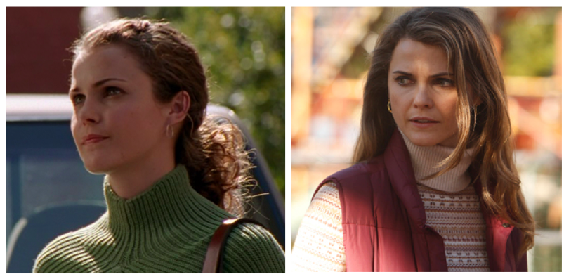 Felicity  |  The Americans   Keri Russell's acting career provides excellent examples of the cyclical popularity of turtlenecks.