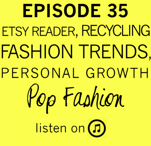 "Holy moly, it's episode 35. Etsy is introducing a card reader for mobile phones, mood-altering wearable technology will be on the market in 2015, and free shipping might be harder (and more expensive) to find. In other news, an identity theft ring was busted at Saks Fifth Avenue, apparel manufacturing is coming to Myanmar in a big way (or is it Burma?), and Gap is selling some familiar styles this holiday season. Our main topic is about personal growth. An interview with Ellen Burstyn from the podcast ""Death Sex & Money"" is the basis for a discussion about growth and being a work in progress. Listen up."