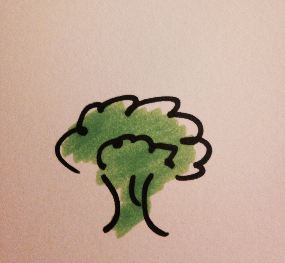 If you're making your Broccoli List at midnight, you might as well doodle a bit.