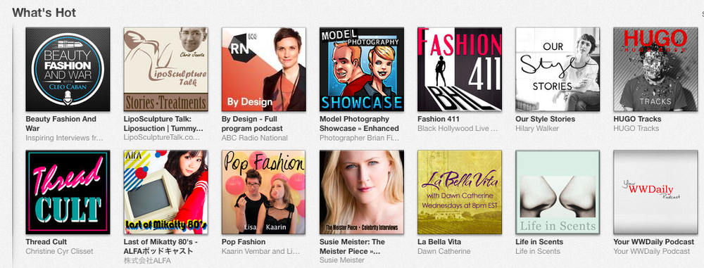 "We made the ""What's Hot"" section of iTunes in the fashion and beauty category!! :)"