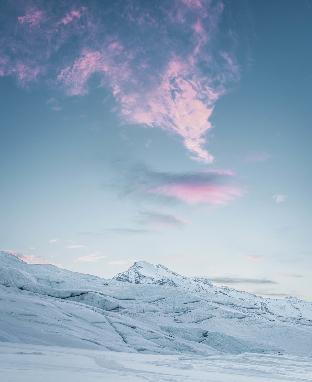 NORTHERN                      - Alaska, 2017Only in winter season, somewhere north, you will get this kind of vision, that everything is painted in white, while the one and only vibrant color is offered by the sun. That's the time when magic happens.