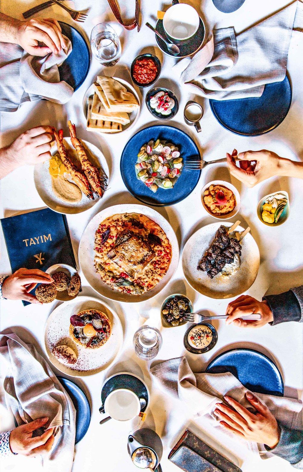 Tayim: Australian Cuisine with a Middle Eastern Cuisine twist flatlay