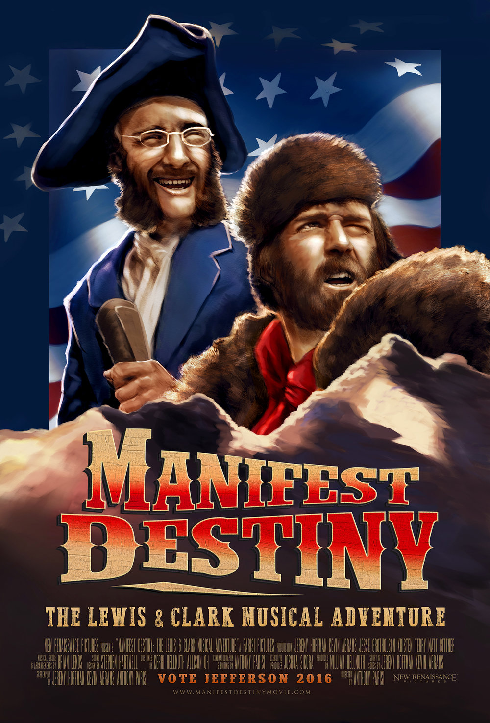 Manifest Destiny ––The Lewis & Clark Musical Adventure (2016) - With exaggerated, eye-popping style,this tall tale of Lewis and Clark becomes a romping spoof of American ego. Follow the explorers out on the trail as they discover that destiny may be anything but manifest.Based on a cult web series, this feature-length, musical allegory was hailed as