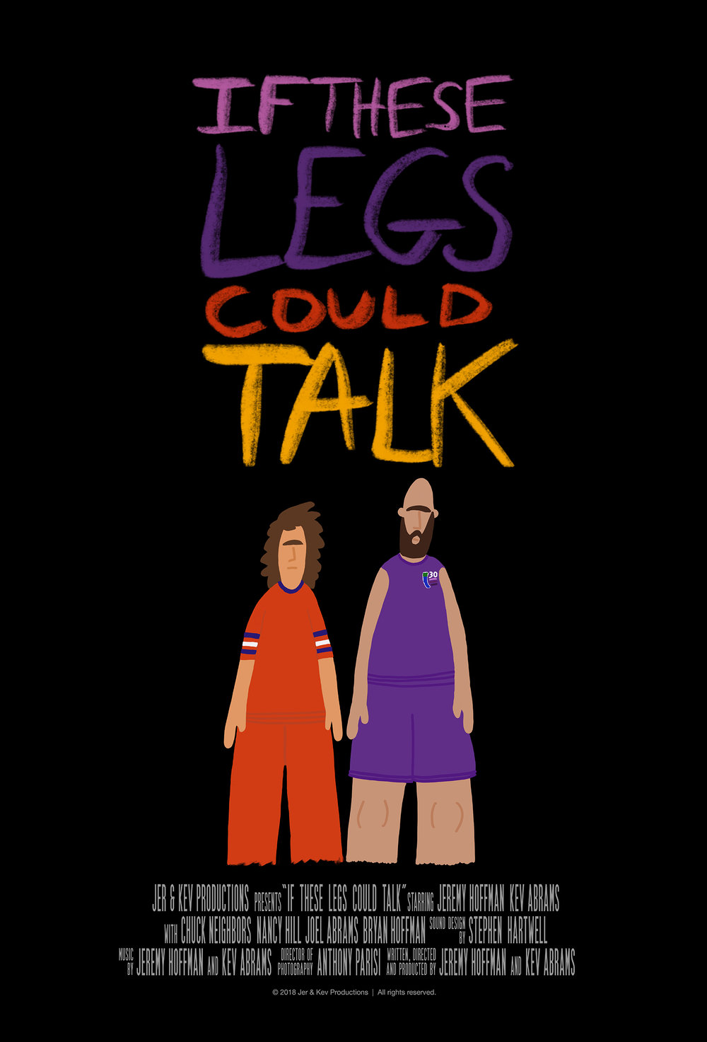 If These Legs Could Talk (2018) - Friends Courtney and Reuben attempt a thirty day, 1100-mile run from San Diego to Portland, for which neither of them are prepared.There is not much else to say. Jer & Kev's second feature film is very funny. Things gets weird.Streaming now on Amazon Primeimdb.com/title/tt8099362Written and Directed by Jer & KevCinematography by Anthony ParisiSound Design by Stephen Hartwell