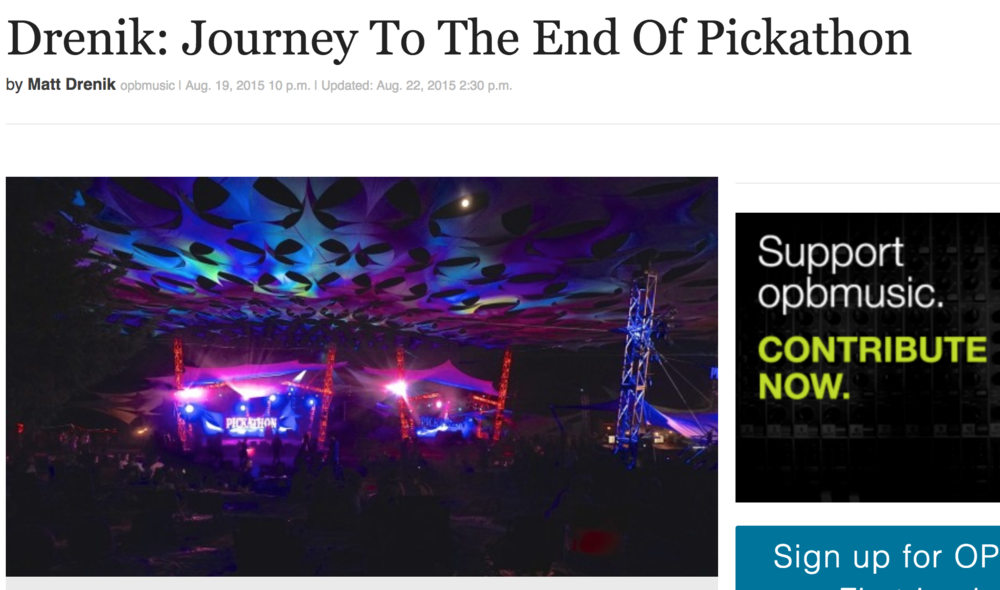 Journey to the End of Pickathon