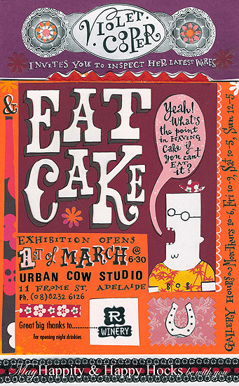 Copy of Eat Cake - exhibition invitation