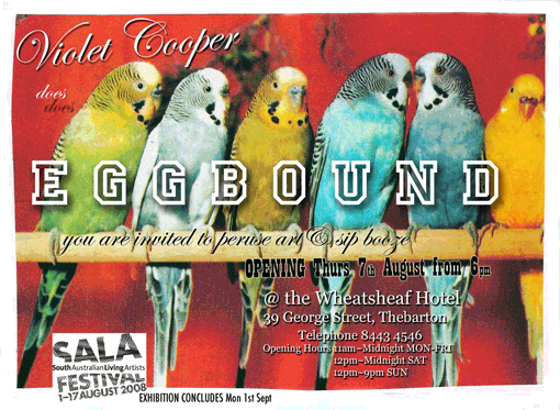 Copy of Eggbound - exhibition invitation
