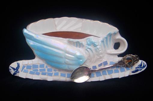 Winged teacup