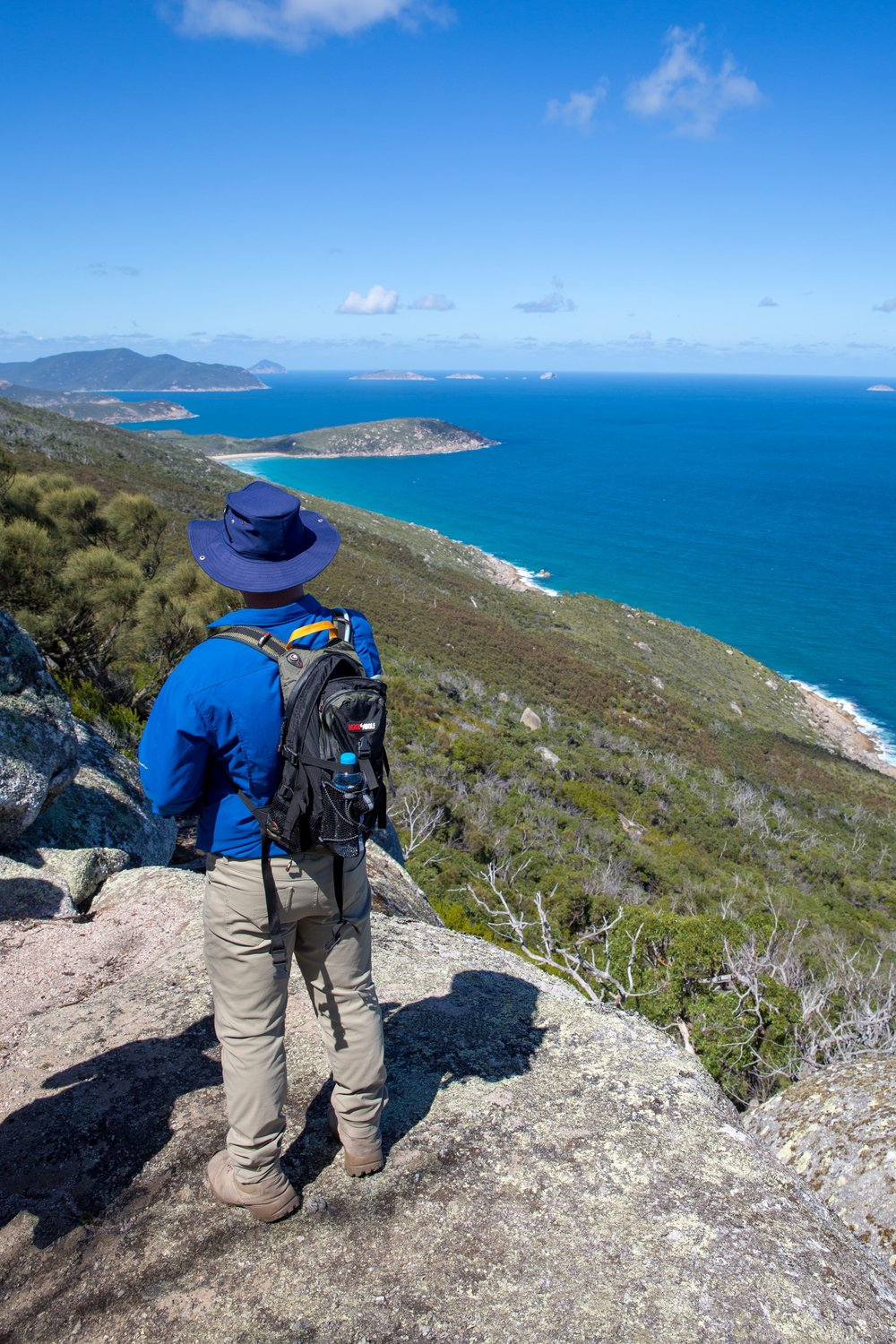 Andrew looking towards Picnic Bay from lookout rocks.jpg