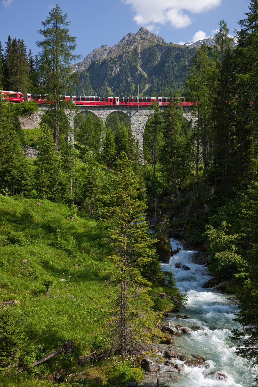 Walking the trail of the Bernina Express -