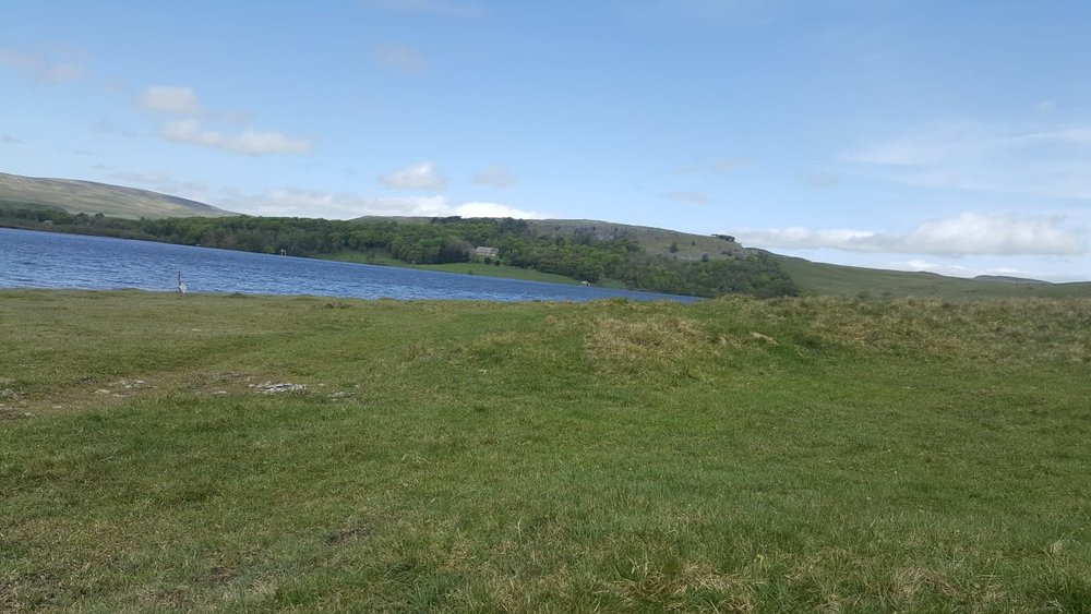 Malham Tarn highest lake in UK and our lunch and loo stop