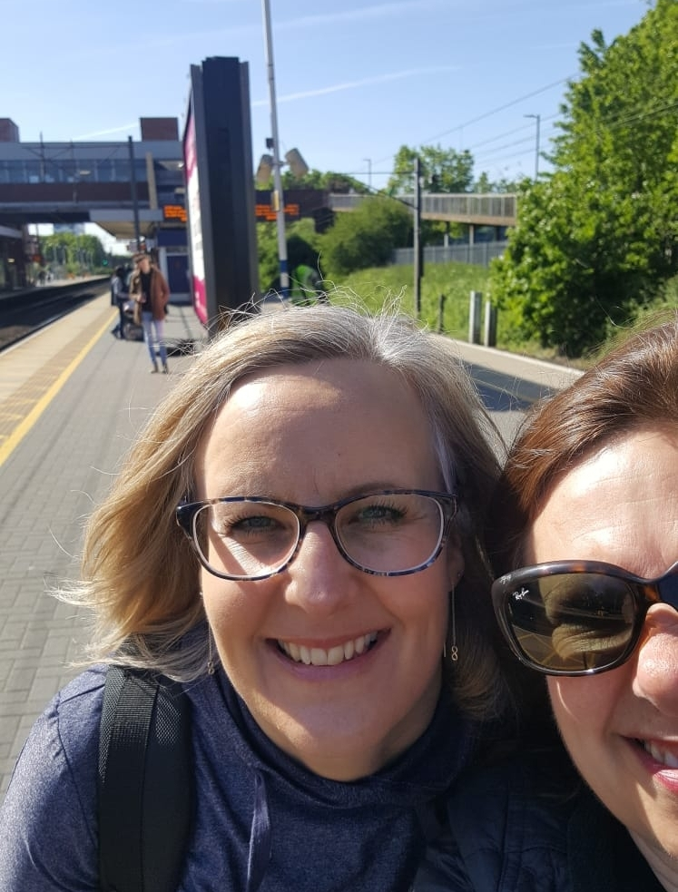 Ready for Adventure - Here we are Alison and Ann-Louise not quite 'Thelma and Louise' but we are both ready for our walking adventure walk with us.....