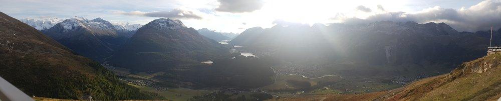 Panoramic view from Muotas Muragl over