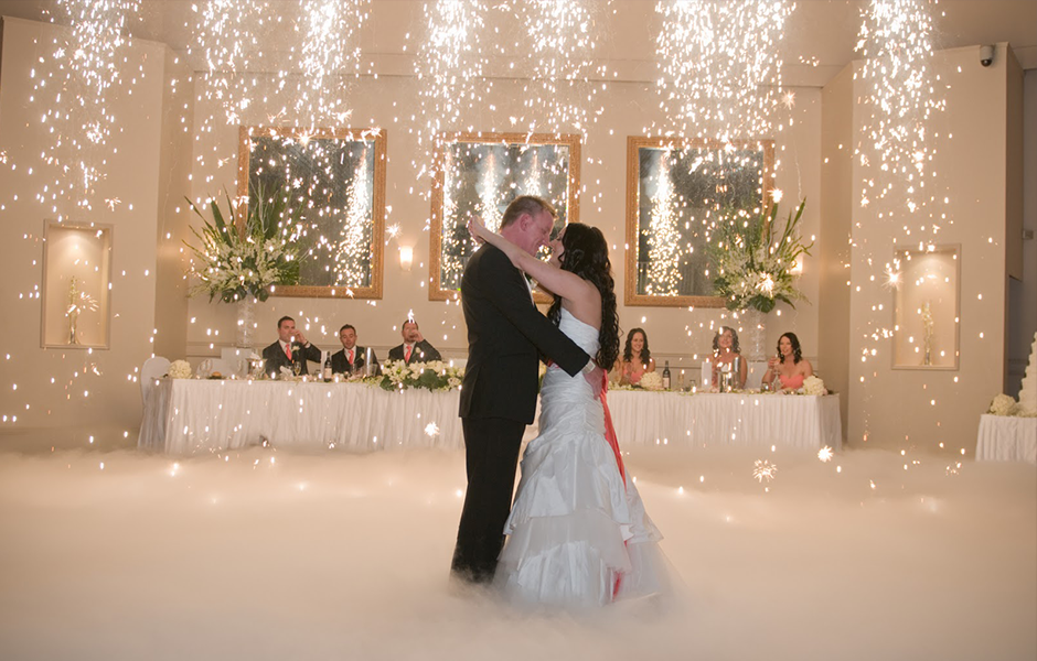 Indoor Fireworks For First Dance.