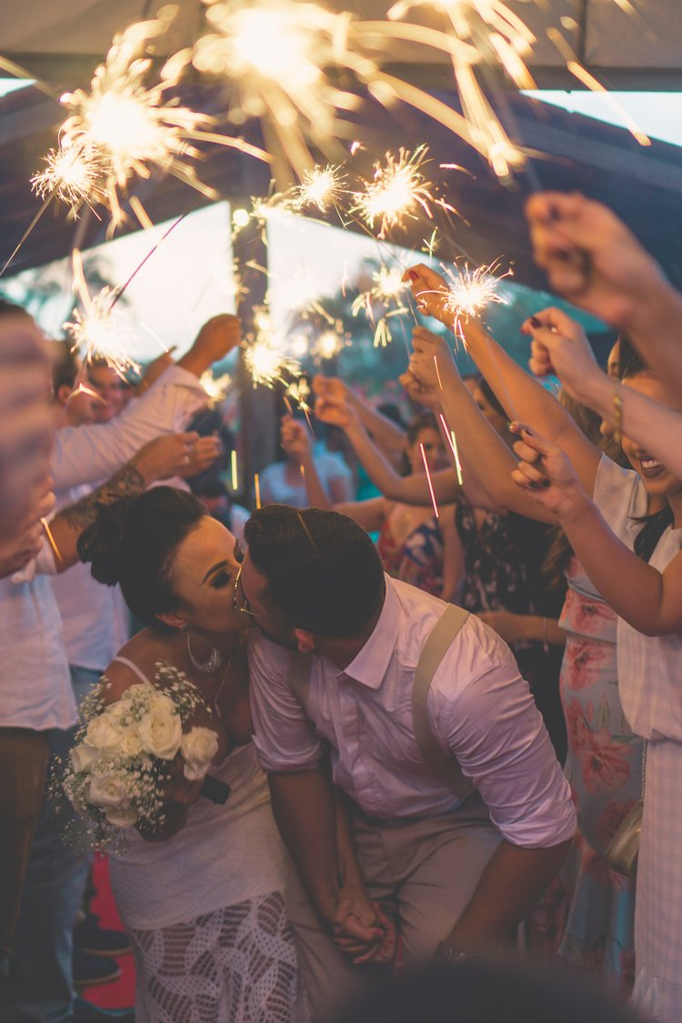Sparkler send off - A glorious end to a glorious night