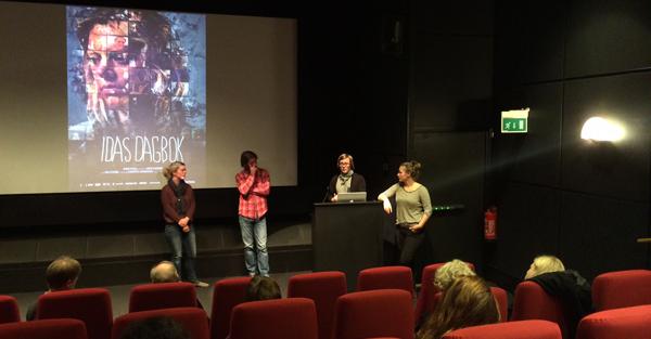 Sammen med Ida presenterte vi filmen og våre visjoner for lanseringen 4.nov.