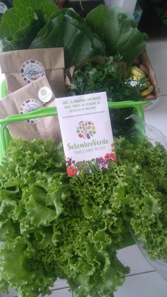 Orgânicos do Sítio Delivery está fazendo entregas saudáveis,    direto de sua produção para o Setembro Verde