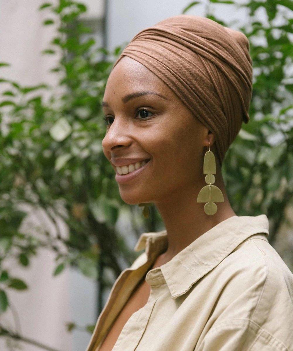 Christelle wearing    Sunset Earring