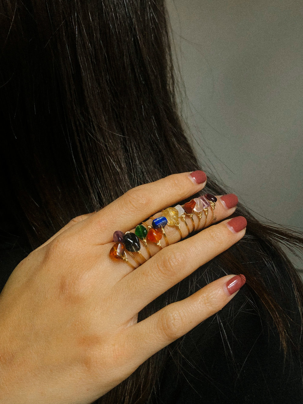 From our Zodiac gemstone ring collection