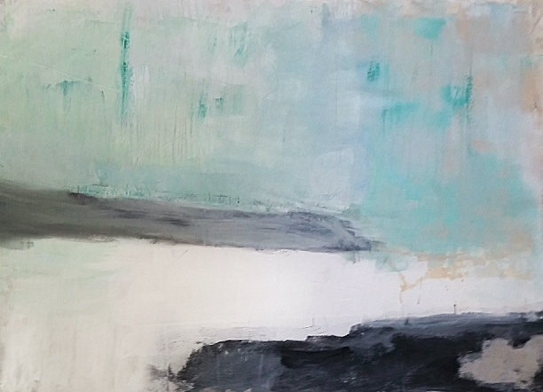 'To the silvery day of air and water' 130x160 cm