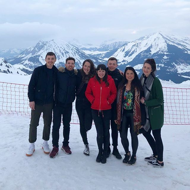 Some of the team in Switzerland this weekend! ❄️#eventprofs #switzerland #dreamteam