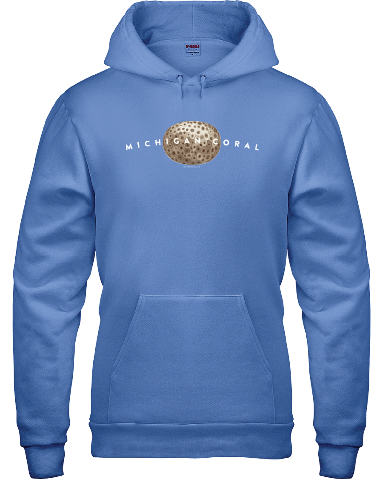 8a85e23d Carolina Blue Coral Hoodie — The Michicana Collection