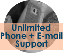 Unlimited Phone + E-mail Support