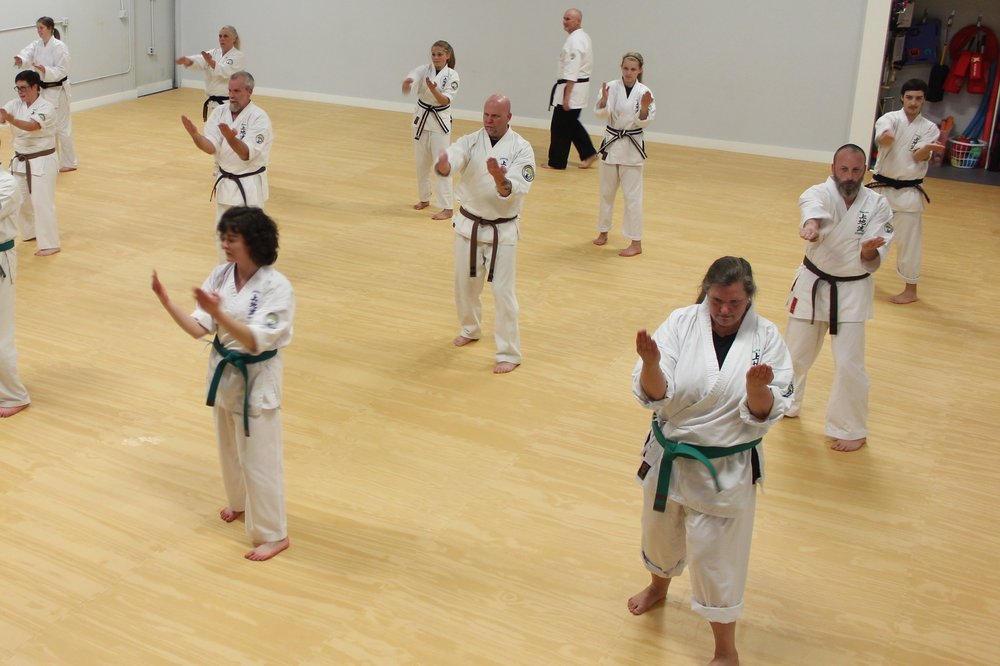 MIND - Many adults find that the martial arts gives them a calming feeling when they come into the dojo. They are practicing and studying for themselves. It is a non competitive environment where everyone works and learns from each other, no matter what rank they are at. It is also an excellent form of stress release.