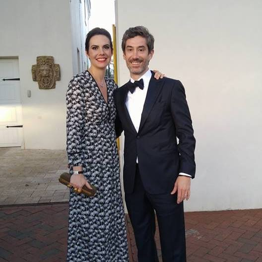 Byron and Catherine attending a black tie event