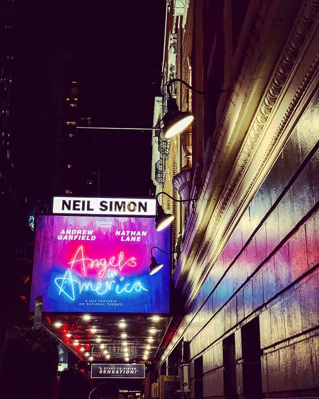@angelsbway #AngelsinAmerica at the #NeilSimonTheatrr #Perestroika #part2 #broadway #play #revival