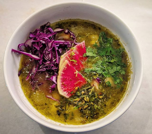 Grilled Chayote Pozole Verse!  #tacolife #tacosofoakland #oakland #oaklandloveit #tacosarelife #taco #popuplife #forkyeah #spoonfeed  #tryitordiet #foodstagram #infatuation #buzzfeedfood #foodfeed #igfood #foodcoma #noleftovers #feastmode #eatfamous #foodporn #foodbeast #topcitybites #bestfoodfeed #oakland #bayareafoodcritics #vegan #vegantacos #veganpozole