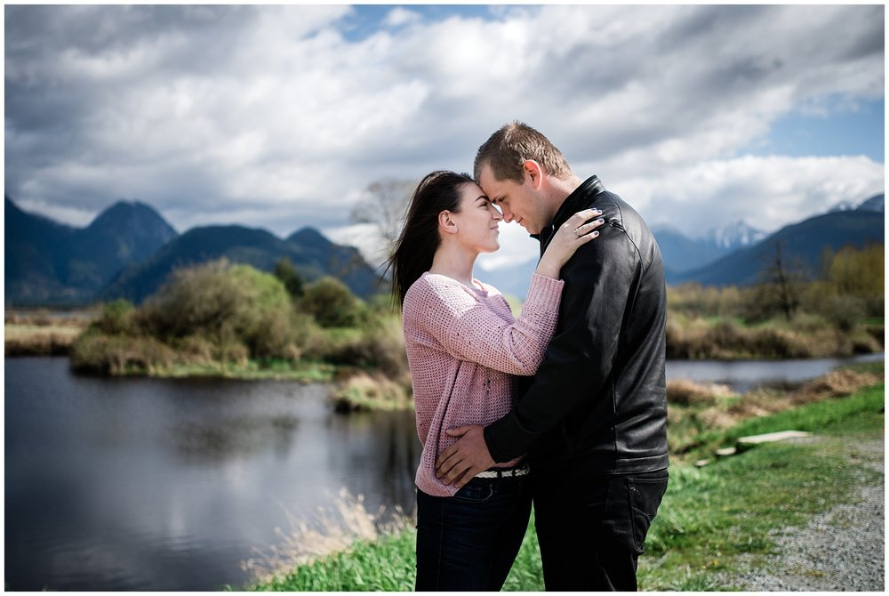 Best locations for engagement photos for couples Pitt lake in Vancouver