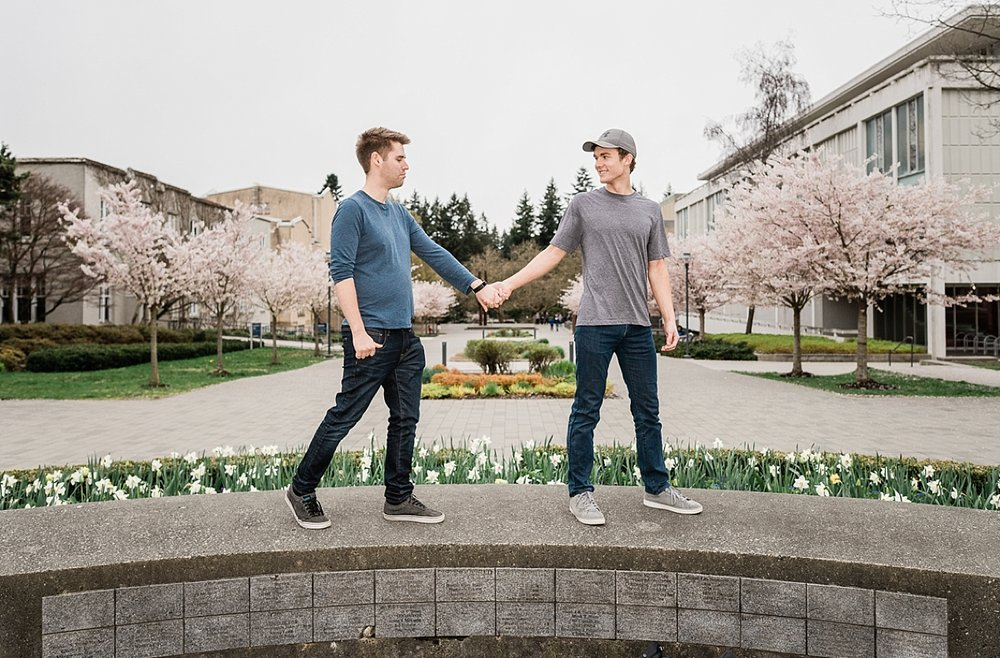 gay couple in UBC engagement photographer session in Vancouver