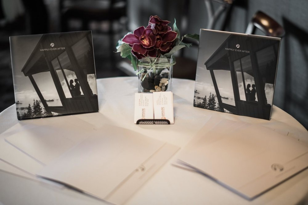 grouse mountain wedding table with information a wish to wed networking wedding event grouse mountain