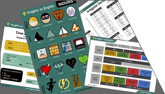 Printouts - posters and handouts of cheat-sheets, timelines, lists, and diagrams