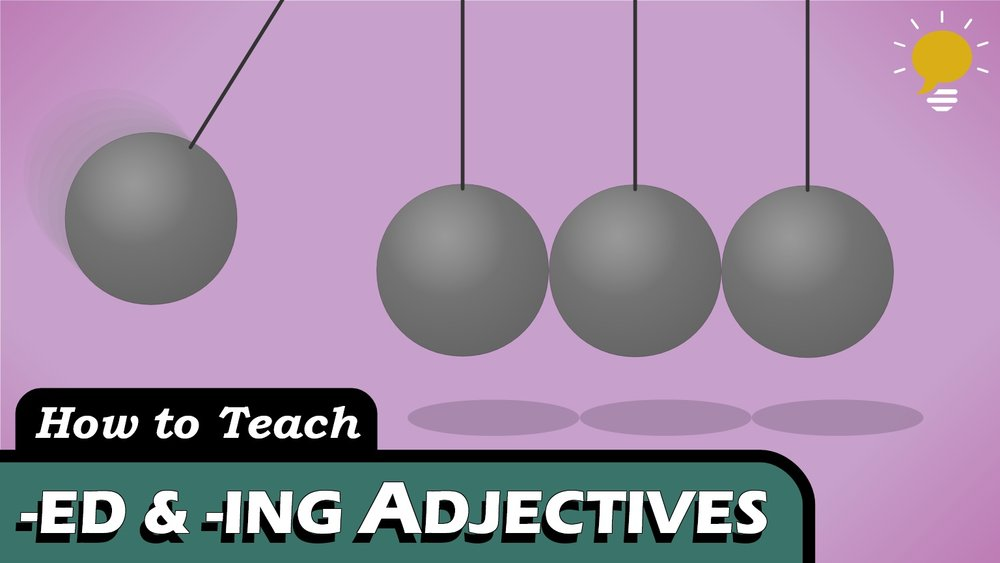 Participle Adjectives - Also known as -ING and -ED/-EN adjectives. We use the present participle to express that a noun causes an action and the past participle to express that a noun is affected by an action.