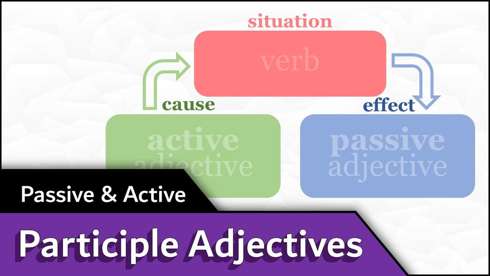 Passive/Active Adjectives - - watch video -- download slideshow -