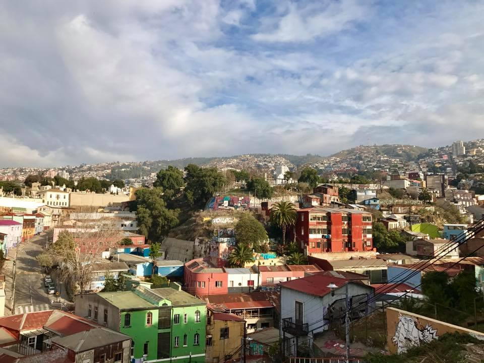A photograph of Valparaíso, Chile, where one of our 2018 summer grantees visited during her summer working for Fundación Ciudadano Inteligente.