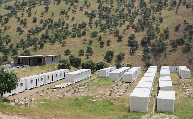 One of the camps that was used by the villagers of Basta, while they were fleeing both the Iranian and Turkish governments bombardments. Photo by: Rezhiar Fakhir