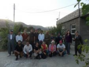 October 2014 delegation on visit to Kurdish   villages facing exploitation of land by   multinational oil conglomerates.