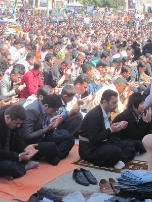 From  Demonstrations- Suleymania  (photo: Friday prayers at Sara/Azadi square, May25 2011)