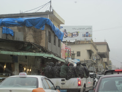 From  Demonstrations- Suleymania  (photo: one truckload of soldiers coming into the square. Feb21 2011)