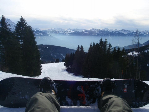 Snowboarding in Switzerland