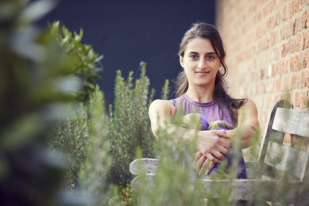 Louisa Koussertari   Yoga Instructor    Yoga sessions with Louisa can be made on:     Friday: 12.15pm - 1.30pm    Check our  bookings/prices  for 1-2-1 sessions and block booking discounts. For groups of up to 3 people please contact us for pricing.  Louisa's personal and continued journey of being a yoga student & teacher allows her to learn, develop and share wider routes to access this whole practice with others. Through tried, tested and studied methods she aims to offer accessible tools for each individual, understanding and supporting that each human is unique and that no matter what age, ability or experience there really is something for everyone in the all encompassing elements of Yoga. Louisa's own background originates in years of continual running, kettle-bell & weight training for bone density (having been diagnosed with Osteopenia in her late teens), yoga and desk related injuries (due to having worked for over a decade within a very normal, but highly stressful office environment).  Louisa fell into the practice of Yoga in her early twenties and found sanctuary in the practice. Falling in love with its restorative, nourishing and grounding properties. It has taken her on a journey of self study ever since and given her the tools and experiences which she offers to those she meets along this path.  Om shanti shanti shanti.   To read more about Yoga    click here.