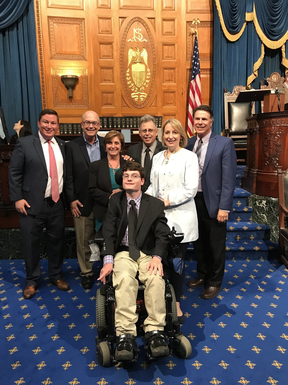 State House intern Sam Paster of Swampscott and his family
