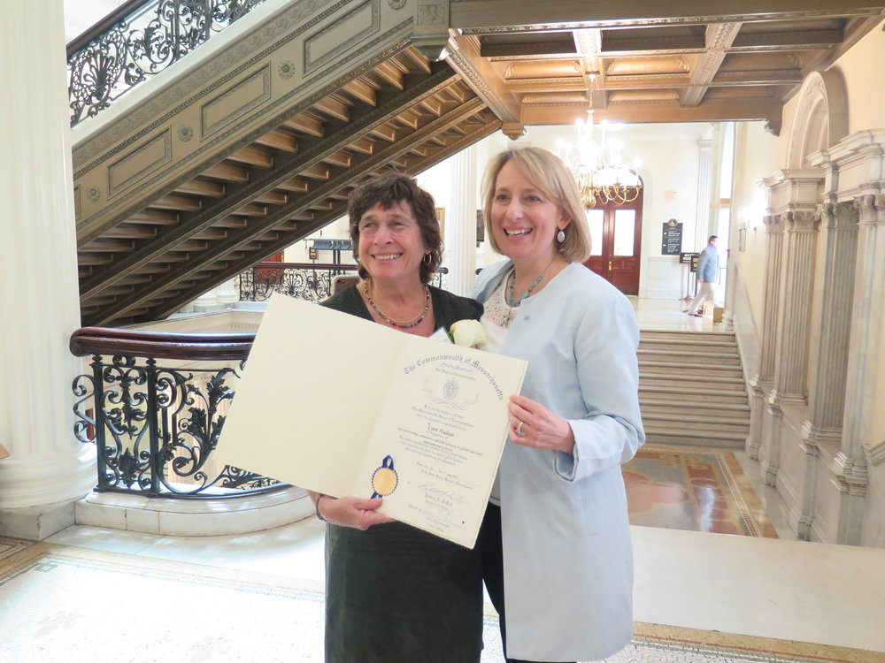 Rep. Ehrlich was delighted to honor Lynn Nadeau of Marblehead with an Unsung Heroine Award.